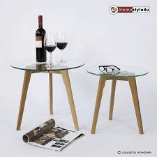 Beistelltisch Couchtisch Sofatisch Glas Tisch 2er Set Wohnzimmertisch Nachttisch