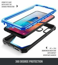 Galaxy A20 / A30 2019 Case [Rugged Shockproof Protection] Hard Phone Cover Blue