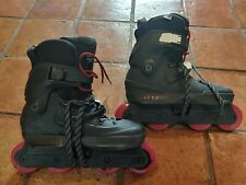 USD Aeon 80 Skates Size 10.0 - 10.5 with UC 80mm86a Cosmic Roche Red wheels.