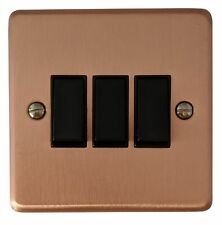 G/&H CRG285 Standard Plate Rose Gold 1 Gang Intermediate Toggle Light Switch