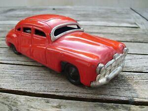 Blechauto Tippco US Limo Hudson 1950 Friktionsantrieb 18cm rot Made in Germany