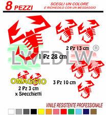 8 adesivi abarth scorpione corse colori a scelta stickers 500 punto rally 28 cm