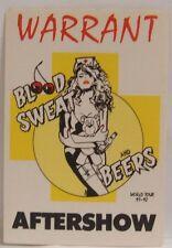 Warrant / Jani Lane - Vintage Original Cloth Tour Concert Backstage Pass