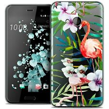 Coque Crystal Gel Pour HTC U Play Extra Fine Souple Watercolor Tropical Flamingo