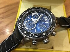 17374 Invicta Reserve 47mm Ocean Speedway Swiss Chronogrph Blue Dial Strap Watch