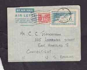 Burma 1951 aerogramme to the USA
