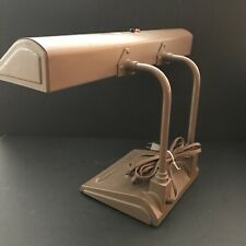 Vtg Art Specialty Co Brown Cast Metal Bent Task Industrial Drafting Desk Lamp
