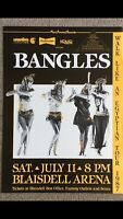 THE BANGLES 1987 ORIGINAL HAWAII CONCERT POSTER WALK LIKE AN EGYPTIAN TOUR 🎫