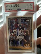 1992 Topps Gold Shaquille O'Neal PSA 8