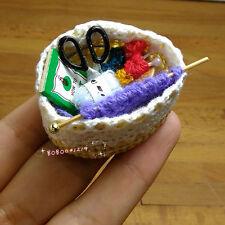 Dollhouse Miniature Toy 1:12 Knitting Material Basket Length 5cm SPO396