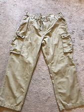 GOOD USED CONDITION Men's Khaki CARHARTT Cargo Pants Size 44 X 30 RELAXED FIT