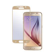2x Panzerglas 9H Panzerfolie mit Rahmen full size für Samsung Galaxy S6 Gold