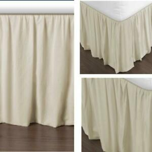 """New, Voile Bedskirt, King 78""""Wx80""""L 21"""" drop. Free Shipping"""