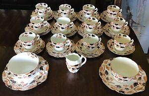 victorian 12 Person Tea Set. Ironstone Type China. Staffordshire?