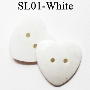 DIY Sewing Decors Flatback Style Button Plastic Material Heart Shape 2-Hole Type