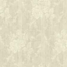 Traditional Vintage Victorian Cottage Chic Rose Stripe Taupe Tan Creme Wallpaper