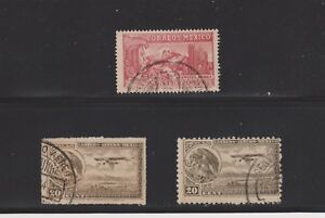 Mexico-  Lot 4644, Used. Air Mails.