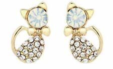 Earring Boho Festival Party Boutique Uk Gold Cat Crystal Bling Luxury Fashion