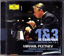 Mikhail PLETNEV: BEETHOVEN Piano Concerto No.1 & 3 Live 2007 CD Klavierkonzerte