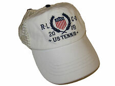 Polo Ralph Lauren White US Tennis Mesh Back Ball Cap Hat