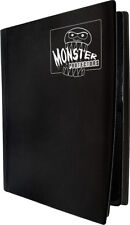 (1) BCW-MB-4P-MBK Black Trading Game Card Binder 4 Pocket Monster Protectors MTG