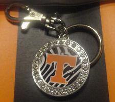 Ladies Tennessee Volunteers Keychain Zebra Print Collegiate Fashion Jewelry