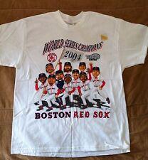 BOSTON RED SOX WORLD SERIES 2004 04 CARTOON COMMEMORATIVE SHIRT YOUTH XL RAMIREZ