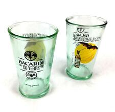 2 Bacardi Mojito Tumbler Glasses Limited Edition 150th Anniversary Bar Rum