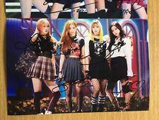 Black Pink BPINK Korean Pop All Member Signed Group 4x6 Autographed USA SELLER c