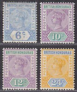 British Honduras 1891 Queen Victoria Part Set to 24c Mint cat £39