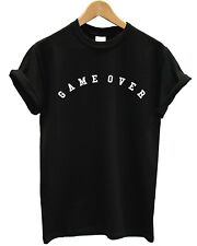 Game Over T Shirt Top Funny Finished Times Up Tumblr Hipster Indie Grunge Shop