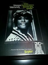 Dionne Warwick The Green Grass Starts To Grow Rare Promo Poster Ad Framed!