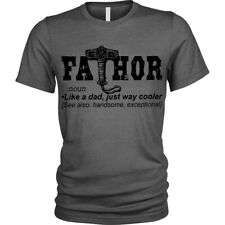 FaTHOR T-Shirt funny fathers day thor birthday gift for dad Unisex Mens