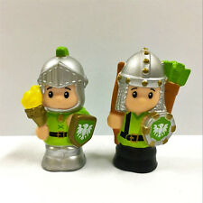 "2PCS Fisher Price Little People Castle Knights Torch Archer 2.0"" Figure Gift Toy"