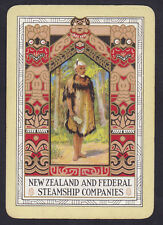 New Zealand & Federal Steamship Companies Vintage Shipping Playing Single Card