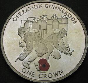 GIBRALTAR 1 Crown 2004 Proof - Operation Gunnerside - 3858 ¤