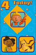 Bob the Builder ~ 4 Today! ~ fold out Birthday card