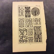 Antique Book Print - Textile Fabrics - 1906