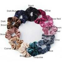 12PCS 12Colors Pack Velvet Elastic Hair Bands Scrunchies Scrunchy Women Girls
