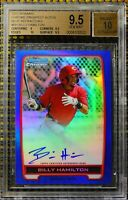 BILLY HAMILTON  - 2012 BOWMAN CHROME AUTOGRAPH BLUE REFRACTOR    BGS 9.5/10