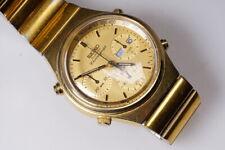 Vintage Seiko Cuarzo Cronógrafo 7a38-7190 1983 Day Date Oro Raro
