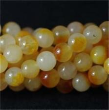 8mm Yellow Kunzite Round Gemstones Loose Beads 15''