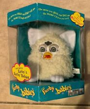 Vintage White Curly Hair White Ears Furby Babies Tiger 1999 New Sealed 70-940