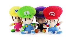 "4X Super Mario Bros Run Baby Mario And Baby Luigi Plush Toy Lovely Soft Doll 6"""