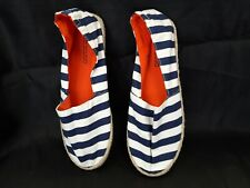DIVIDED - NAVY AND WHITE STRIPY ESPADRILLES UK SIZE 4.5