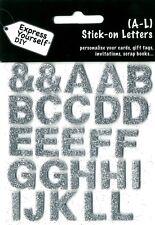 Lettere A-L ARGENTO fai da te Greeting Card decorazioni per personalizzare le schede Express yourself