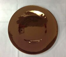 "ROSENTHAL FREE SPIRIT COPPER REFLECTIONS SALAD PLATE 8 5/8"" (DARKER SHADE)"