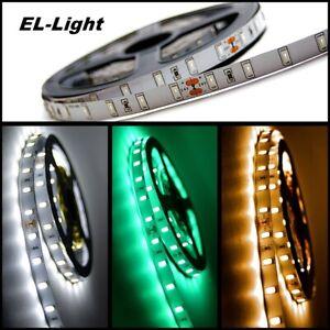 Leistungsstarke 24V LED Streifen 5m, 5730 SMD, 8 W/m warm- kaltweiß grün dimmbar