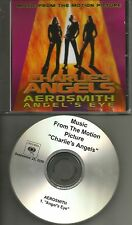 AEROSMITH Angel's Eye 2000 TST PRESS PROMO Radio DJ CD single Charlie's Angels