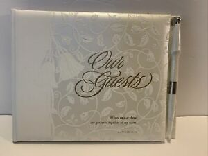 Hallmark Guest Book Album WCA 3233 New Open Box With Pen